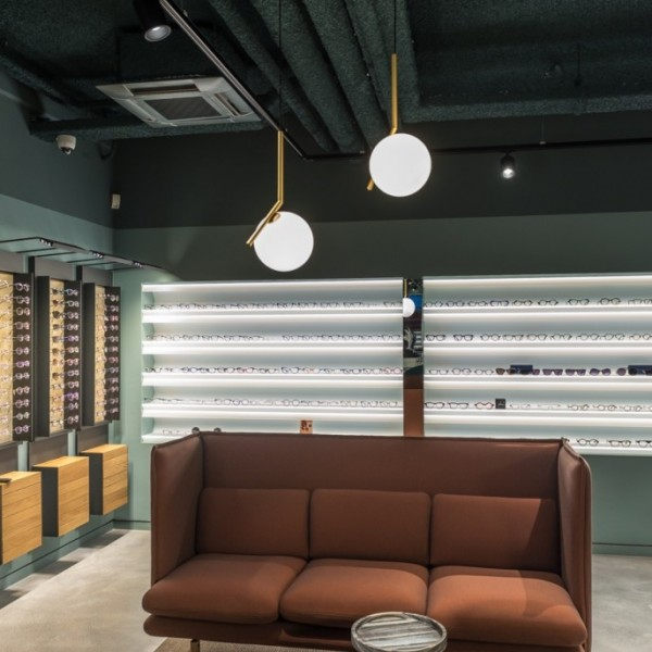 Lichtplan opticien retail